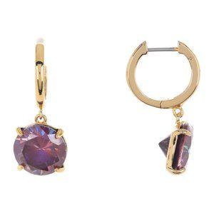 Kate Spade  new york round cz huggie hoop earrings